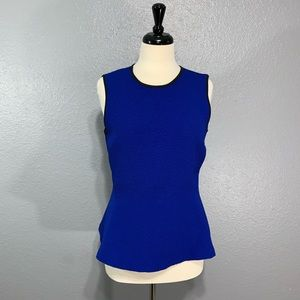 The Limited | Royal Blue Textured Peplum Top M
